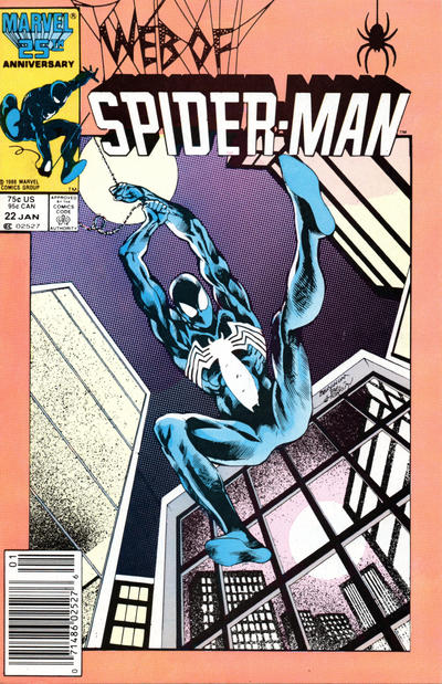 Cover for Web of Spider-Man (Marvel, 1985 series) #22 [Direct Edition]