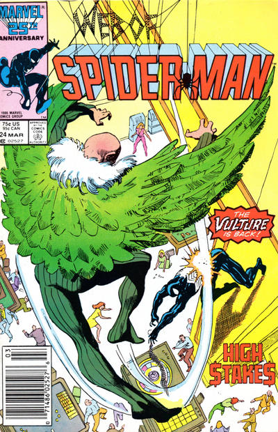 Cover for Web of Spider-Man (Marvel, 1985 series) #24 [Direct Edition]