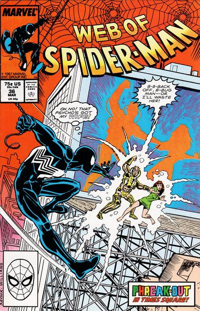 Cover for Web of Spider-Man (Marvel, 1985 series) #36 [Direct Edition]