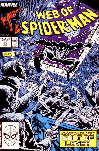 Cover for Web of Spider-Man (Marvel, 1985 series) #40 [Direct Edition]