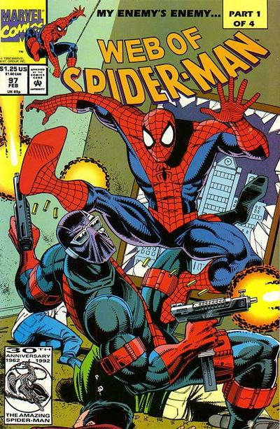 Cover for Web of Spider-Man (1985 series) #97 [Direct Edition]
