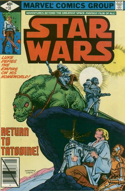 Cover for Star Wars (Marvel, 1977 series) #31 [Direct Edition]