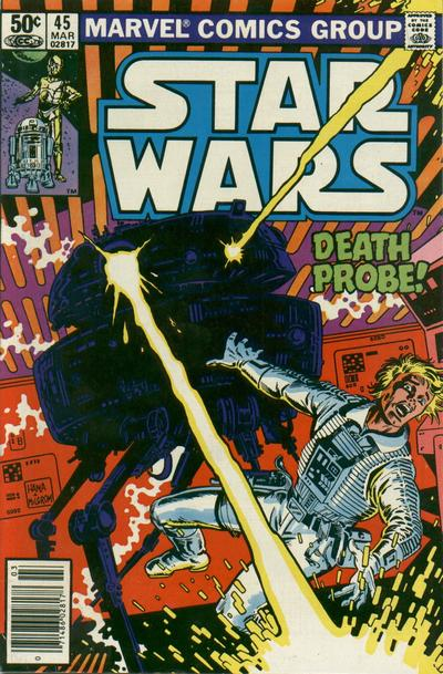 Cover for Star Wars (Marvel, 1977 series) #45 [Newsstand Edition]
