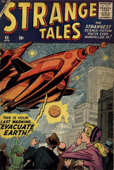 Cover for Strange Tales (Marvel, 1951 series) #68