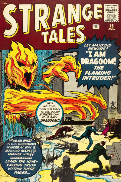 Cover for Strange Tales (Marvel, 1951 series) #76 [UK edition]