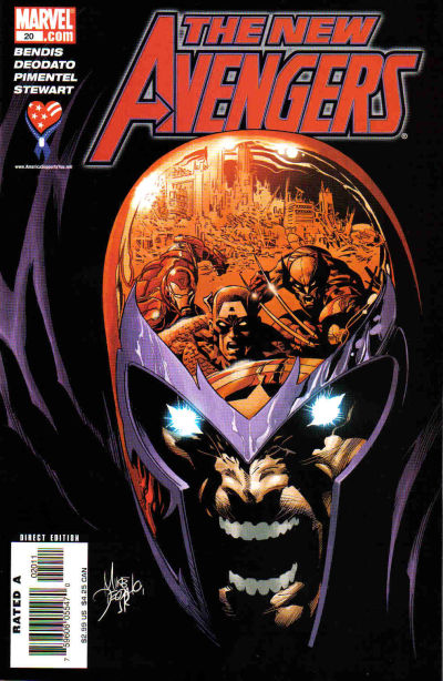 Cover for New Avengers (Marvel, 2005 series) #20 [Direct Edition]
