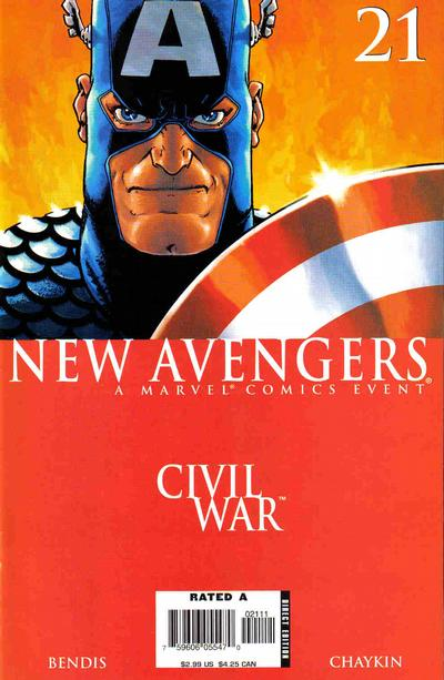 Cover for New Avengers (Marvel, 2005 series) #21 [2nd Printing Variant]