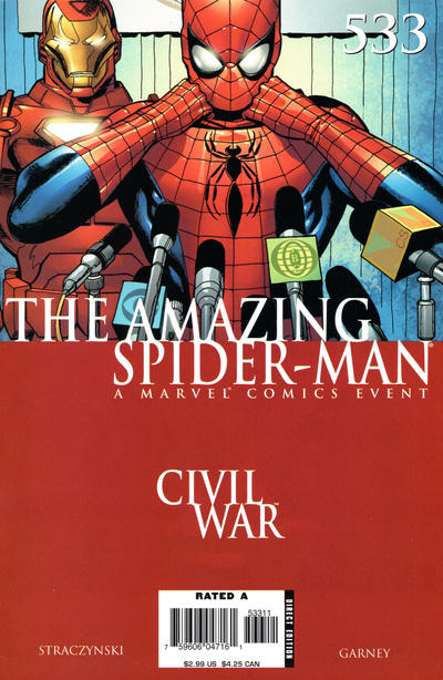 Cover for The Amazing Spider-Man (Marvel, 1999 series) #533 [Direct Edition]