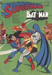 Cover Thumbnail for Superman (Egmont Ehapa, 1966 series) #18/1969