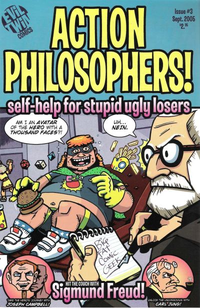 Cover for Action Philosophers (Evil Twin Comics, 2005 series) #1 (3) - Self-Help for Stupid, Ugly Losers
