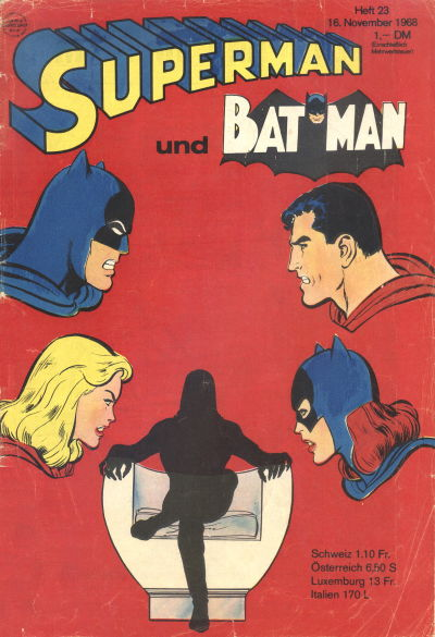 Cover for Superman (Egmont Ehapa, 1966 series) #23/1968