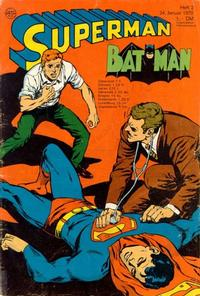 Cover Thumbnail for Superman (Egmont Ehapa, 1966 series) #2/1970
