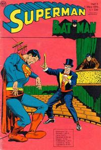 Cover Thumbnail for Superman (Egmont Ehapa, 1966 series) #5/1970