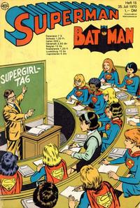Cover Thumbnail for Superman (Egmont Ehapa, 1966 series) #15/1970