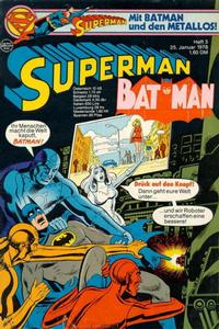 Cover Thumbnail for Superman (Egmont Ehapa, 1966 series) #3/1978