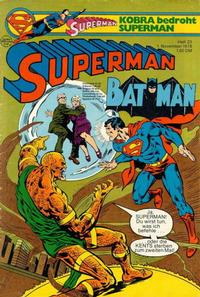 Cover Thumbnail for Superman (Egmont Ehapa, 1966 series) #23/1978