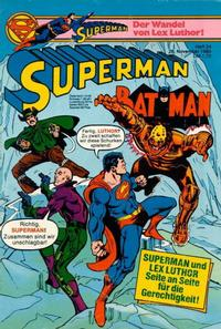 Cover Thumbnail for Superman (Egmont Ehapa, 1966 series) #24/1980