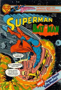 Cover Thumbnail for Superman (Egmont Ehapa, 1966 series) #12/1981