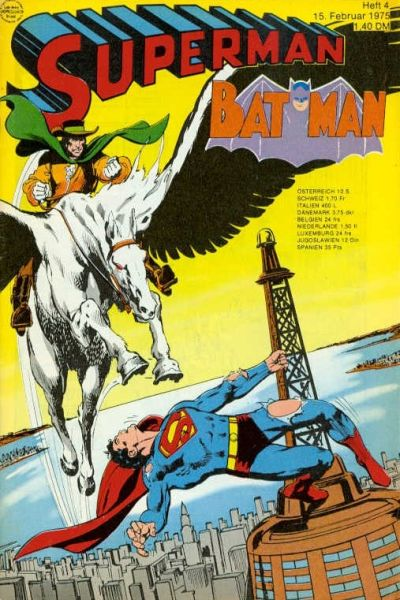 Cover for Superman (Egmont Ehapa, 1966 series) #4/1975