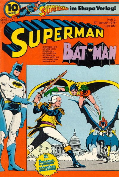 Cover for Superman (Egmont Ehapa, 1966 series) #2/1976