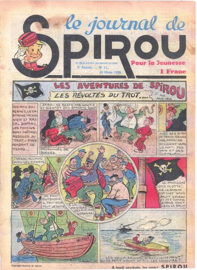 Cover for Le Journal de Spirou (Dupuis, 1938 series) #11/1939