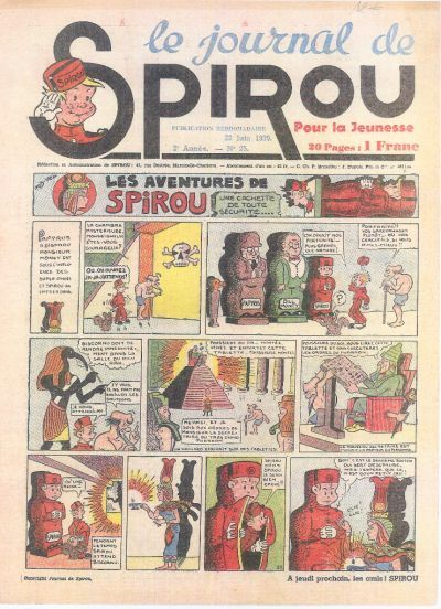 Cover for Le Journal de Spirou (1938 series) #25/1939