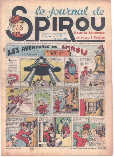 Cover for Le Journal de Spirou (1938 series) #29/1939