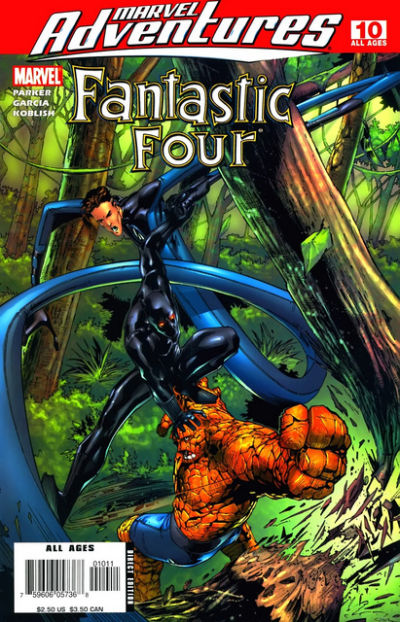 Cover for Marvel Adventures Fantastic Four (Marvel, 2005 series) #10