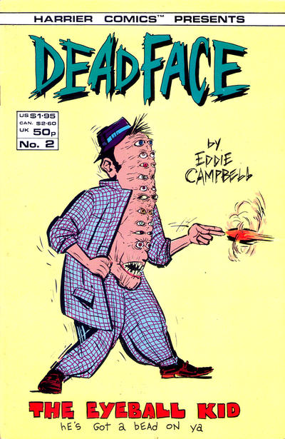 Cover for Deadface (Harrier, 1987 series) #2