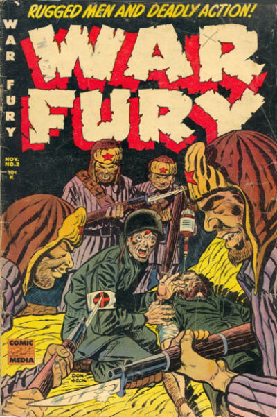 Cover for War Fury (Comic Media, 1952 series) #2