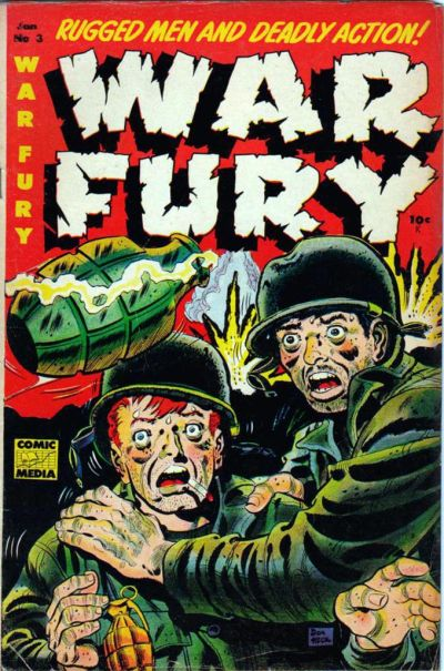 Cover for War Fury (Comic Media, 1952 series) #3