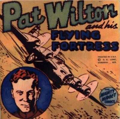 Cover for Pat Wilton and His Flying Fortress [Mighty Midget Comic] (Samuel E. Lowe & Co., 1943 series)