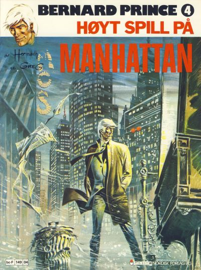 Cover for Bernard Prince (1979 series) #4 - Høyt spill på Manhattan