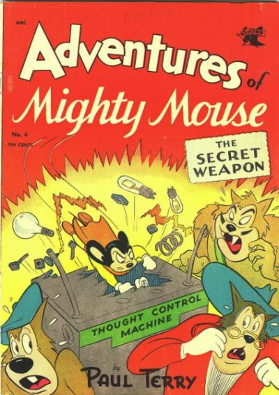 Cover for Adventures of Mighty Mouse (St. John, 1952 series) #4