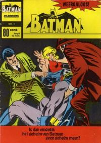 Cover Thumbnail for Batman Classics (Classics/Williams, 1970 series) #1