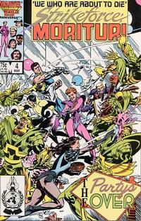 Cover Thumbnail for Strikeforce: Morituri (Marvel, 1986 series) #4 [Direct Edition]