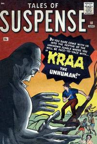 Cover for Tales of Suspense (Marvel, 1959 series) #18