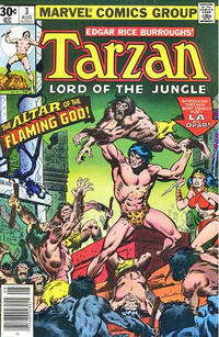 Cover Thumbnail for Tarzan (Marvel, 1977 series) #3 [30 cent cover]