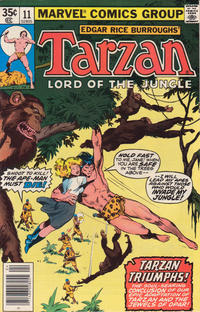 Cover for Tarzan (Marvel, 1977 series) #11