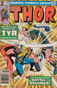 Cover Thumbnail for Thor (Marvel, 1966 series) #312 [Newsstand Edition]