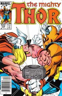 Cover Thumbnail for Thor (Marvel, 1966 series) #338 [Newsstand]