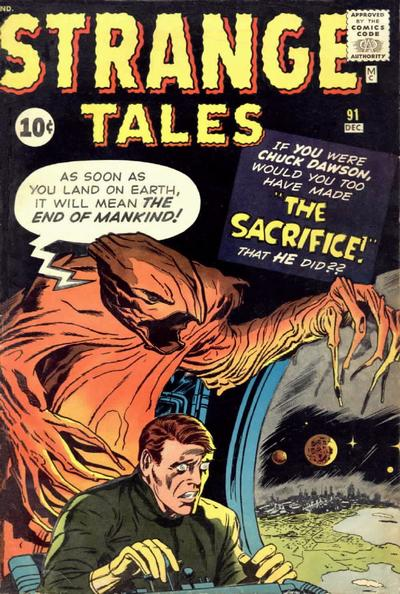 Cover for Strange Tales (Marvel, 1951 series) #91 [UK edition]