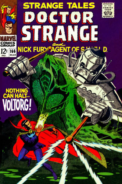 Cover for Strange Tales (Marvel, 1951 series) #166