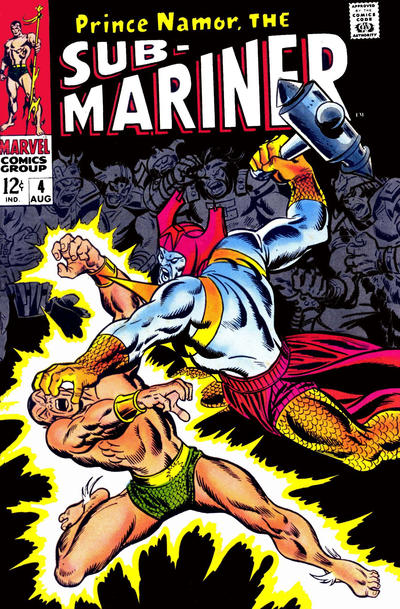 Cover for Sub-Mariner (Marvel, 1968 series) #4