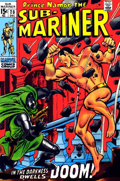 Cover for Sub-Mariner (Marvel, 1968 series) #20 [British price variant]
