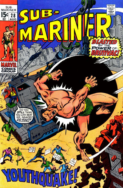 Cover for Sub-Mariner (1968 series) #28