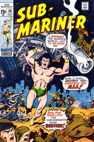 Cover for Sub-Mariner (Marvel, 1968 series) #39