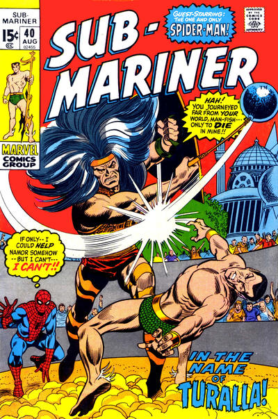 Cover for Sub-Mariner (Marvel, 1968 series) #40