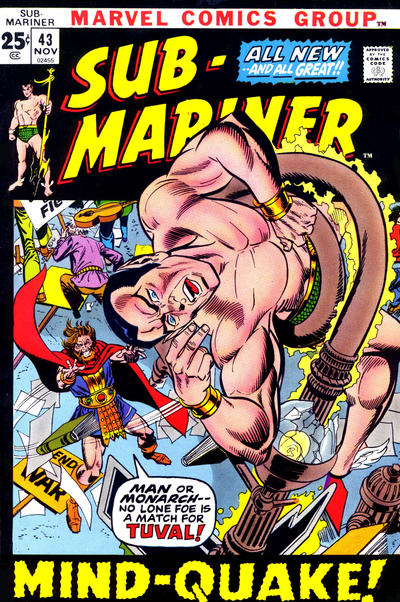 Cover for Sub-Mariner (Marvel, 1968 series) #43