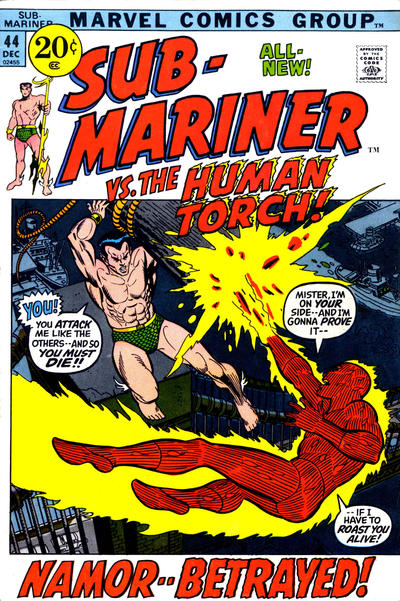 Cover for Sub-Mariner (Marvel, 1968 series) #44
